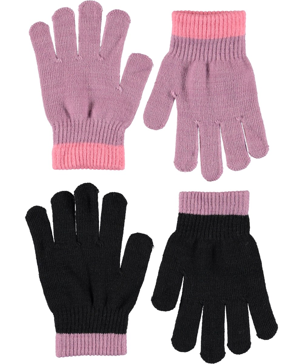 Kello - Star Dust - Gloves in purple and black.