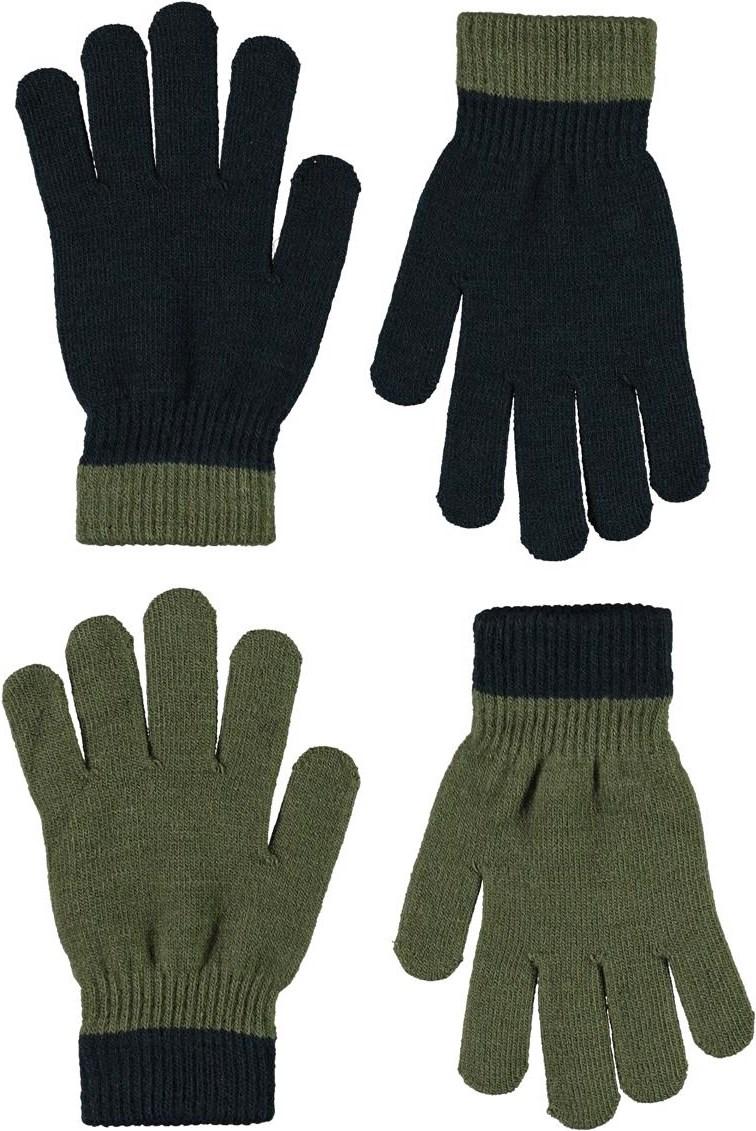 Kello - Vegetation - 2 pair green knit gloves