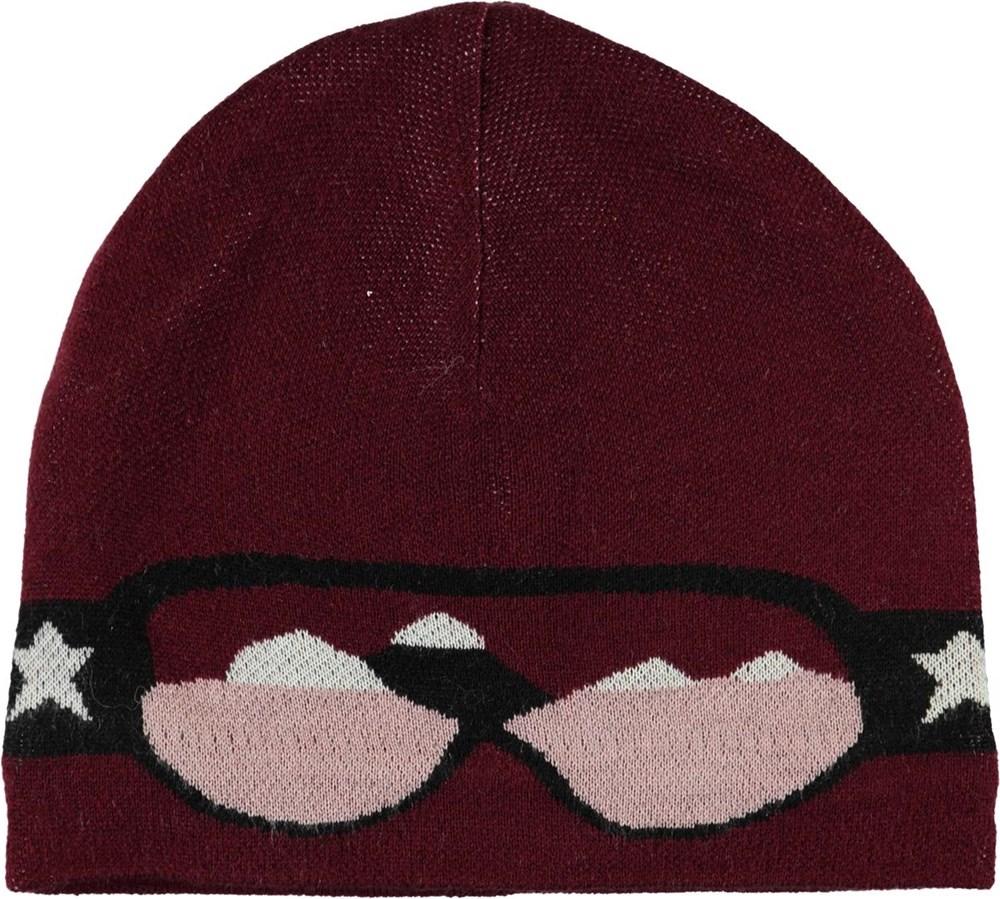 Kenzie - Maroon - goggles knit