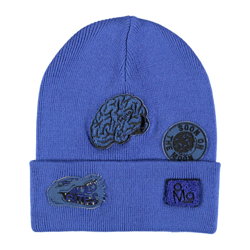 Kipp - Real Blue - Blue hat in a wool blend with patches