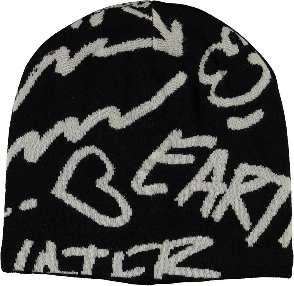 Kite - Black - Black hat with text