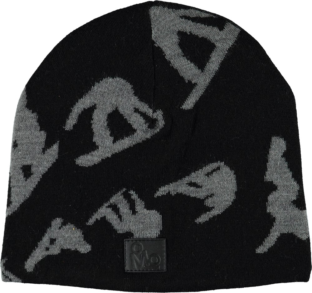 Kite - Graphic Sequence - Black hat with snowboarders.