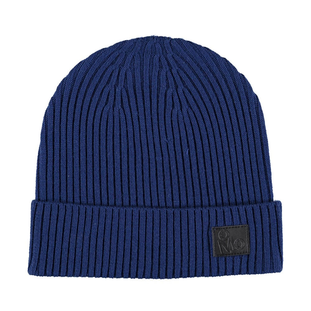 Kjetil - Blue Wing Teal - Blue cable knit hat in wool