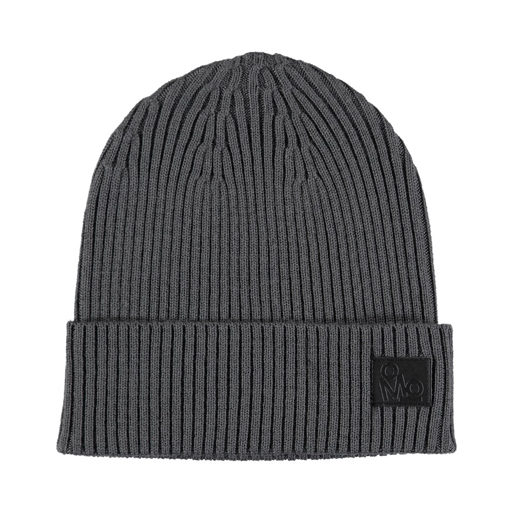 Kjetil - Smokey Grey - Grey cable knit hat in wool