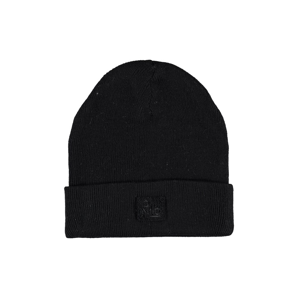 Kruz - Very Black - Black hat in a wool blend with logo