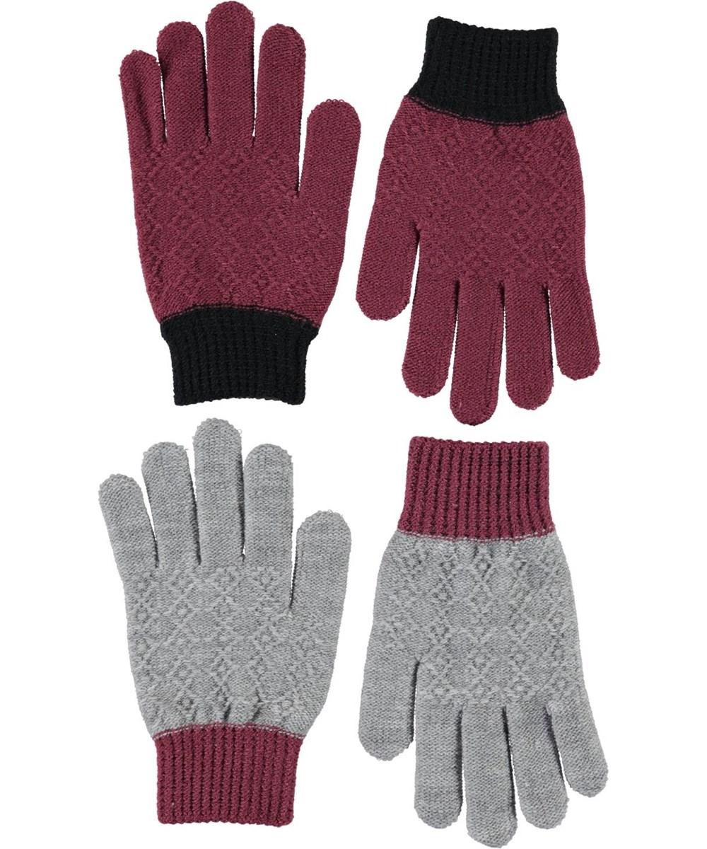 Kyra - Maroon - Jaquard Knit