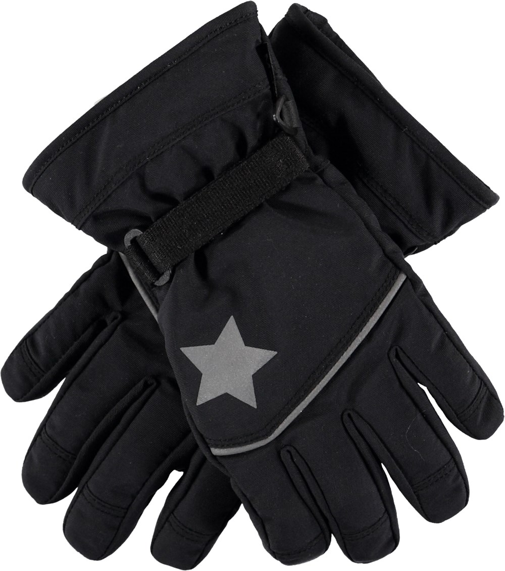 Mack Active - Very Black - Black ski gloves.