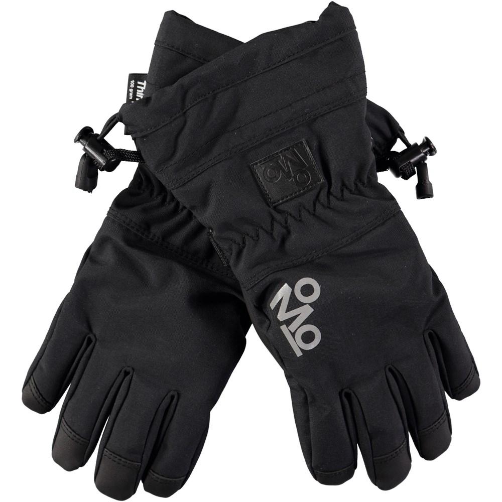 Mackenzie Pro - Very Black - Black, waterproof and breathable ski mittens