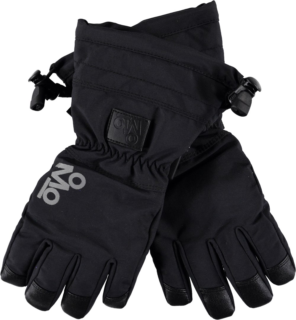 Mackenzie Pro - Very Black - Black ski gloves.