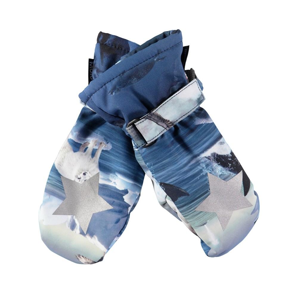 Mitzy - Arctic Landscape - Waterproof, breathable mittens with digital arctic landscape print