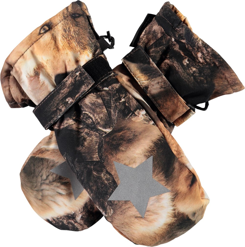 Mitzy - Fox Camo - Mittens with foxes.