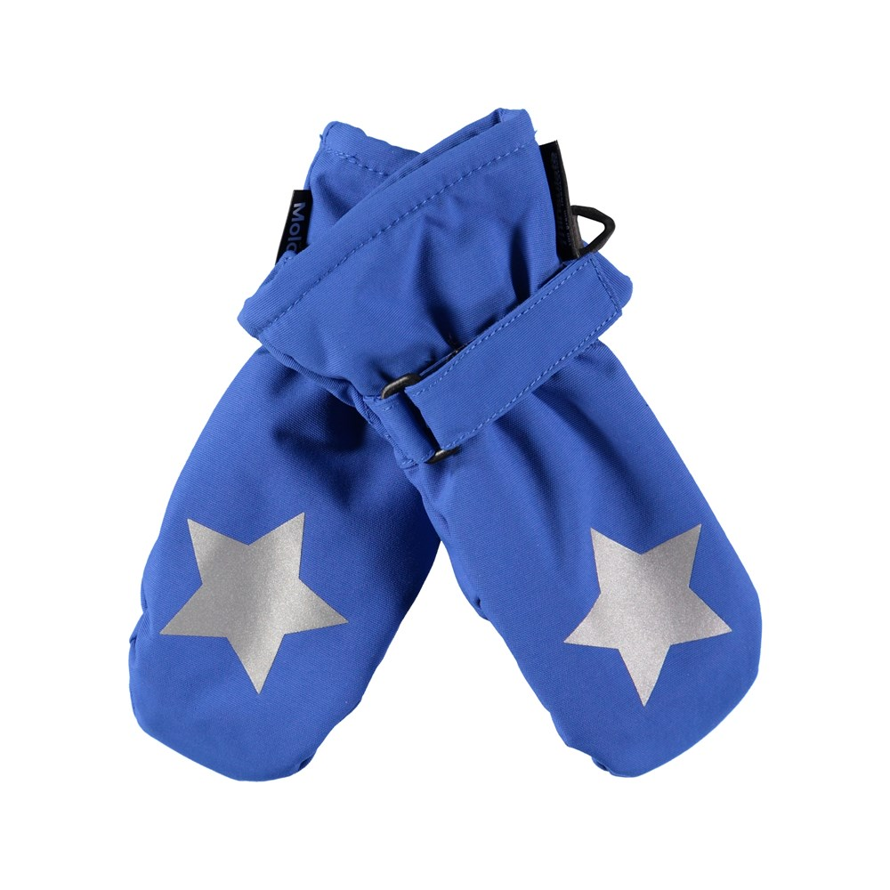 Mitzy - Real Blue - Waterproof, breathable blue mittens