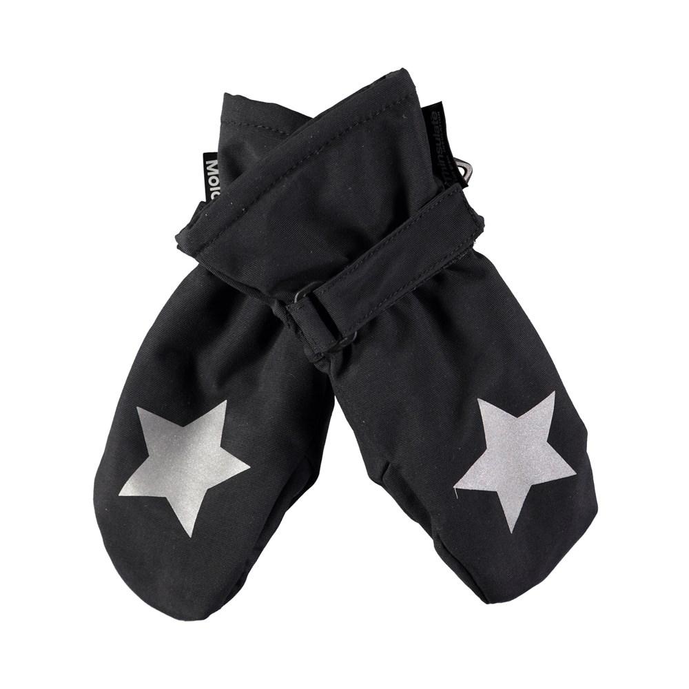Mitzy - Very Black - Waterproof, breathable black mittens