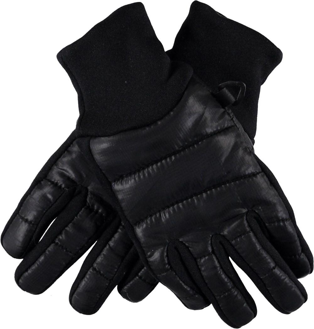 Moses - Very Black - Black down gloves.