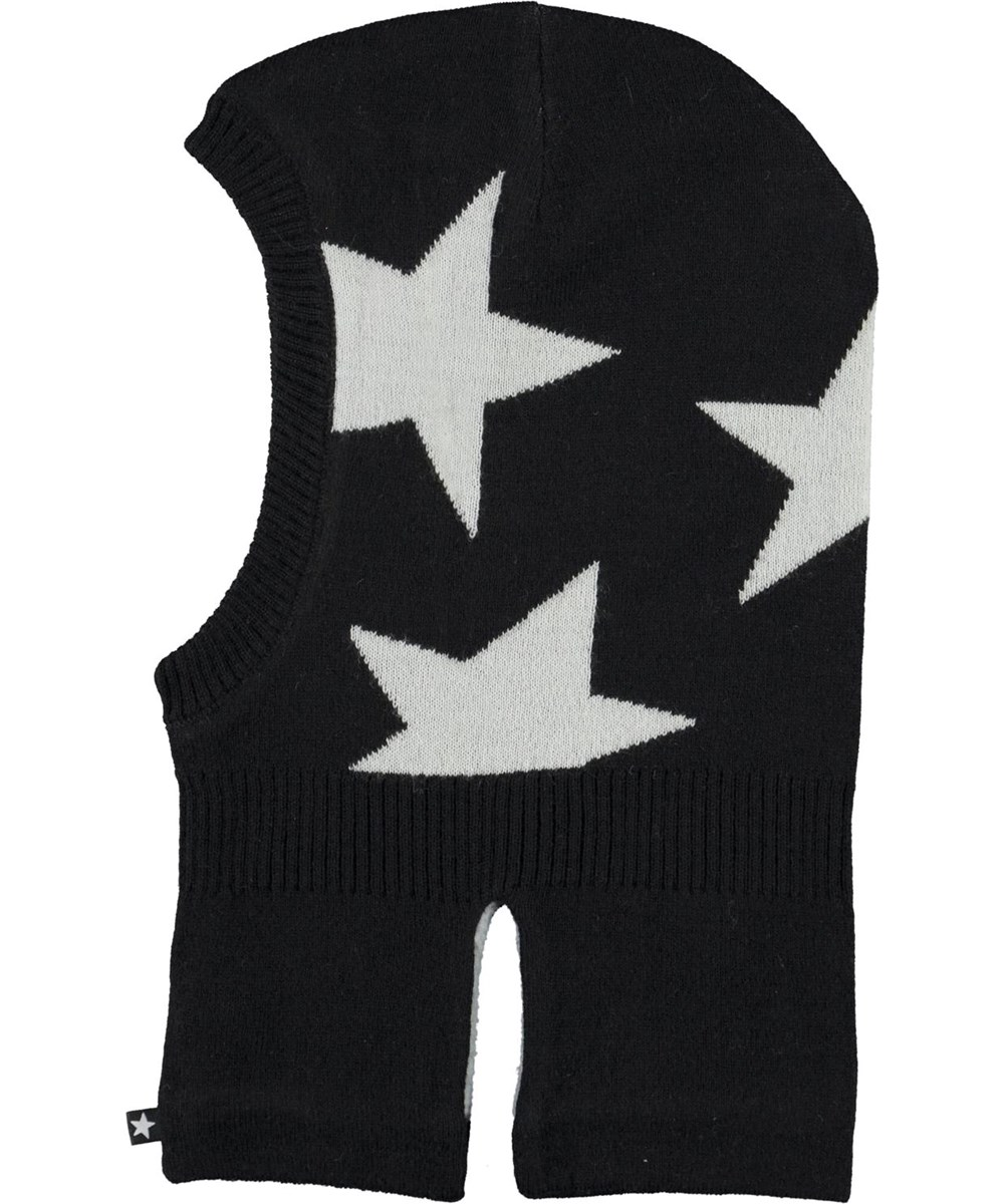 Snow - Black - Black ski mask with stars