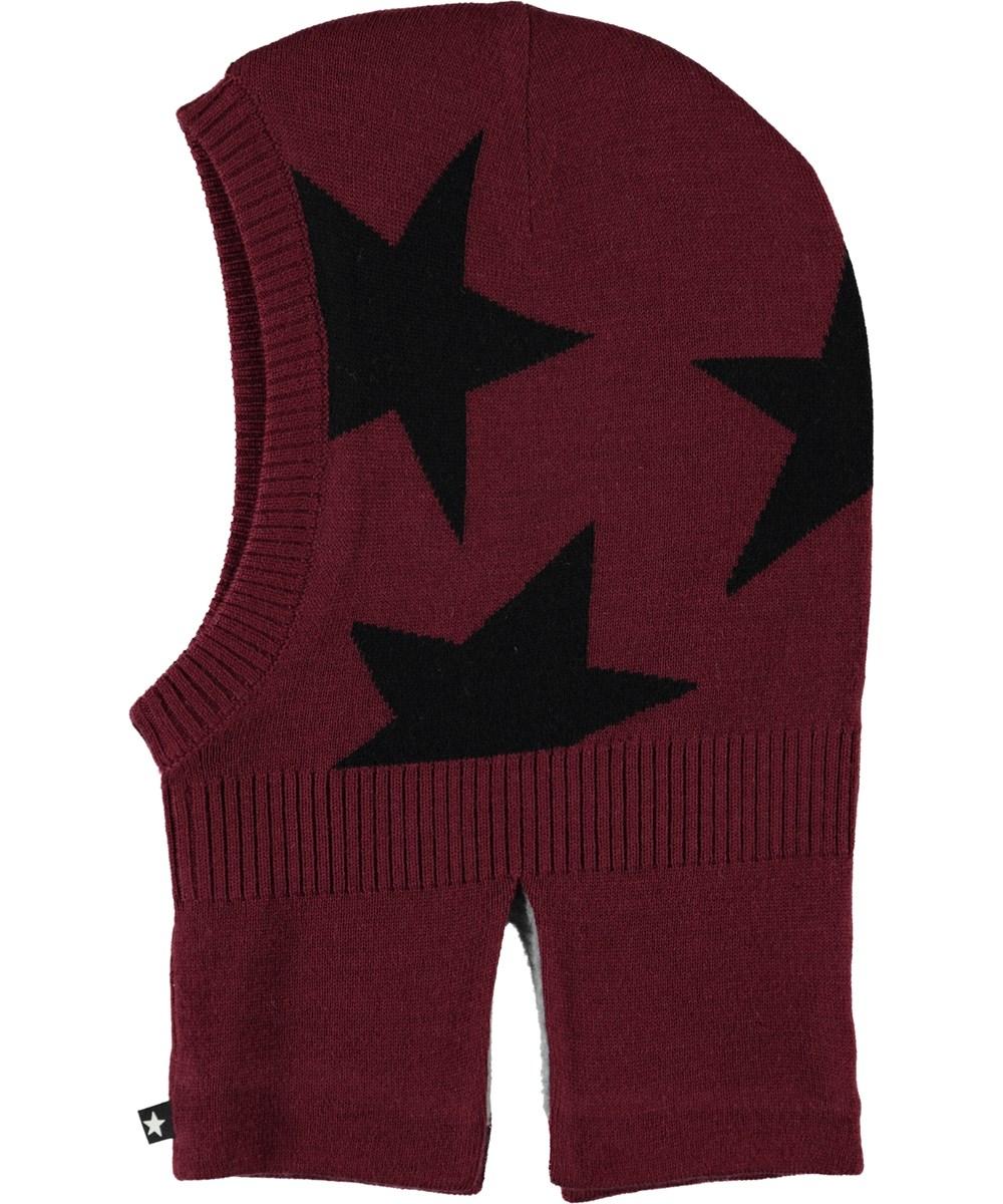Snow - Maroon - Star knit