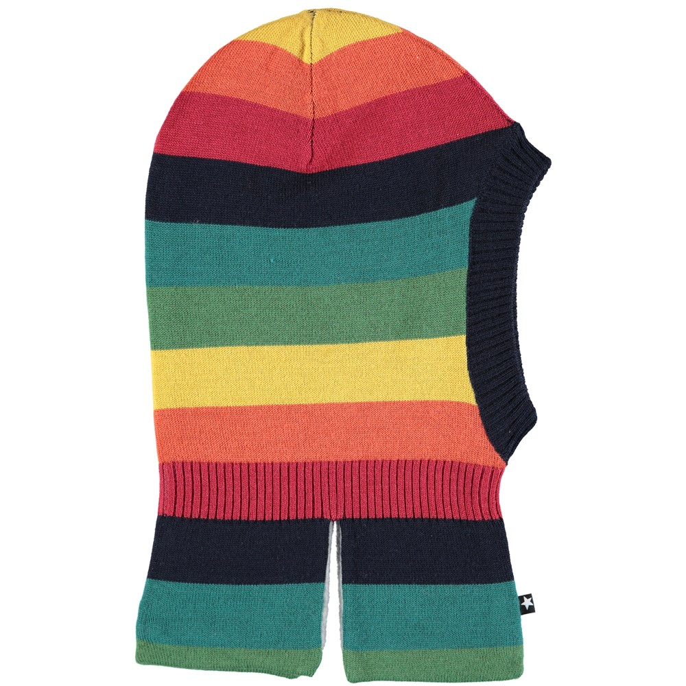 Snow - Melange Rainbow - Rainbow ski mask in wool blend with stars