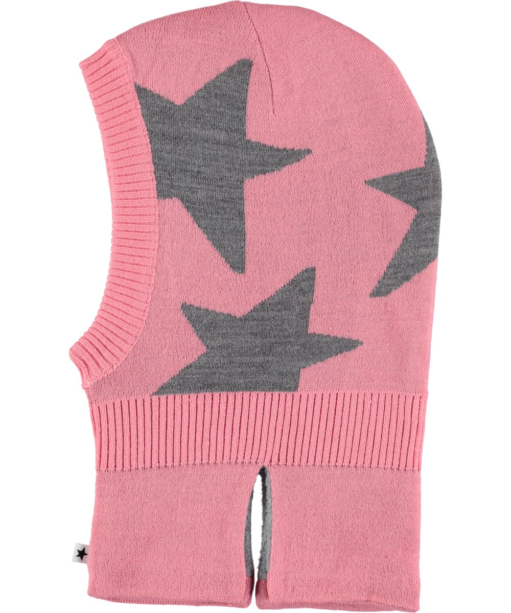 Snow - Bubble Pink - Pink ski mask with stars.