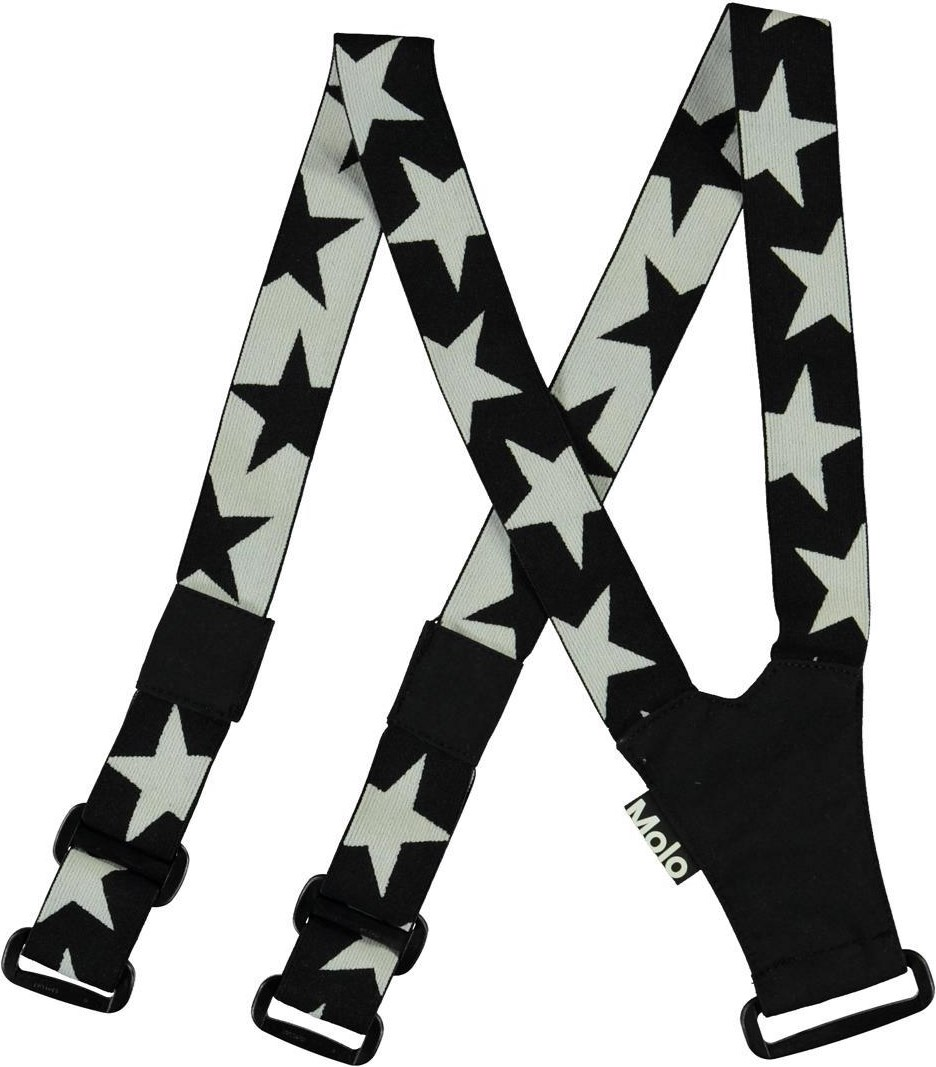 Suspenski - Black - Black and white star braces