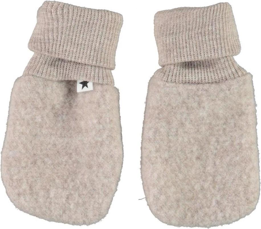 Ufo - Moon Sand - Beige wool baby mittens