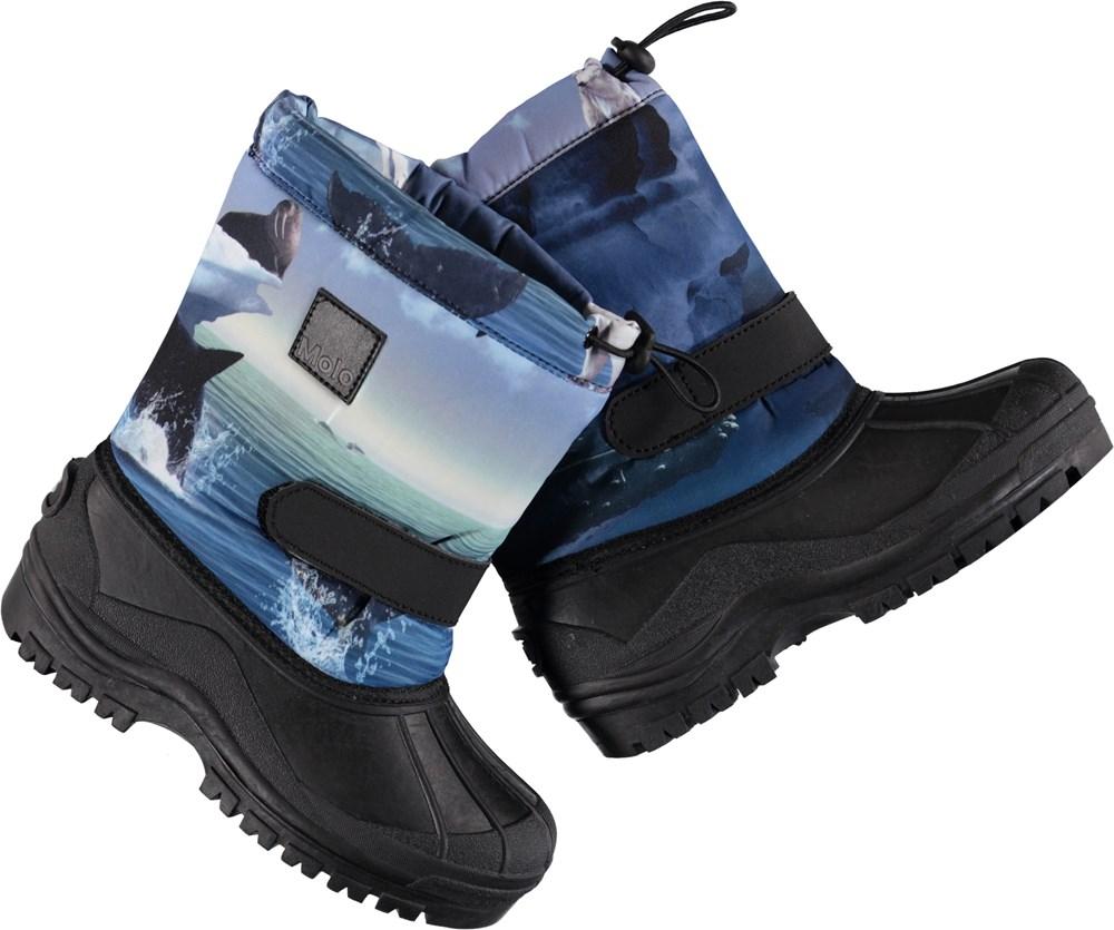 Driven - Arctic Landscape - Waterproof winter boots with digital arctic landscape print