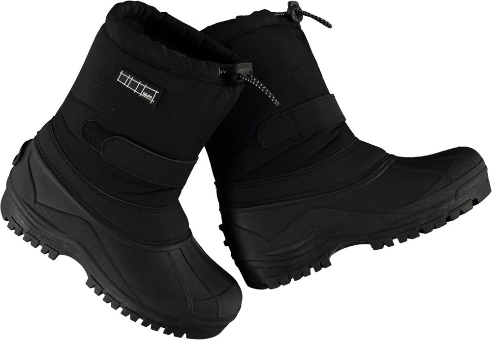 Driven - Black - Recycled black winter boots