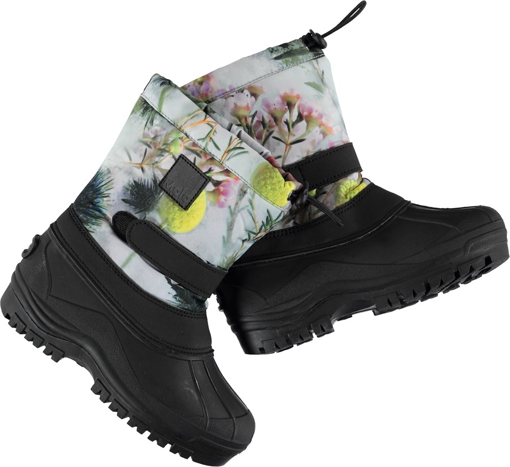 Driven - Frozen Flowers - Winter boots with flowers.