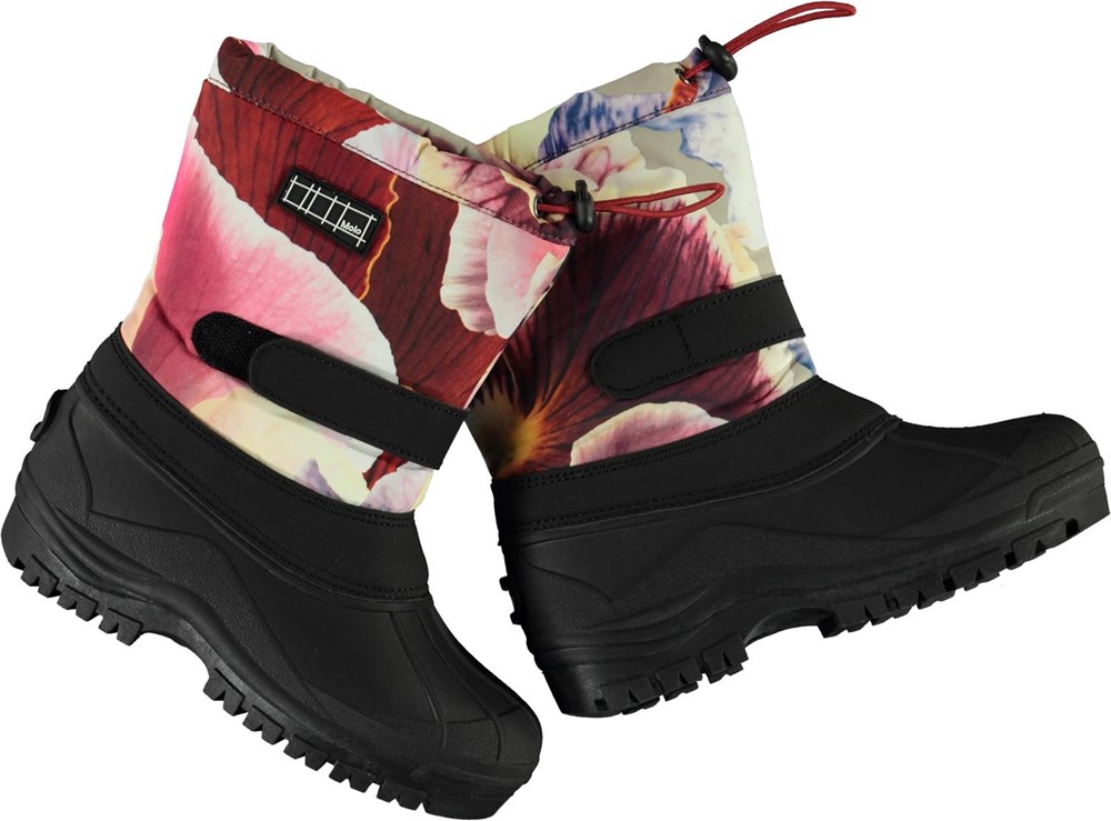 Driven - Giant Floral - Recycled winter boots in floral print