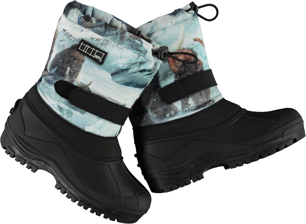 Driven - Mammoth - Recycled winter boots with mammoth print