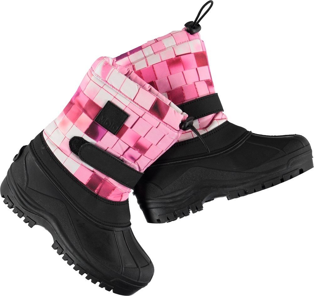 Driven - Pink Disco - Winter boots with pink shaft.