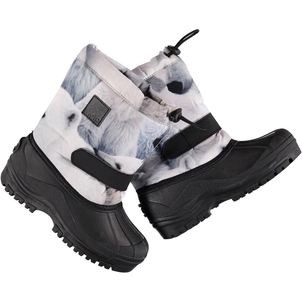 Driven - Polar Bear - Waterproof winter boots with digital polar bear cub print