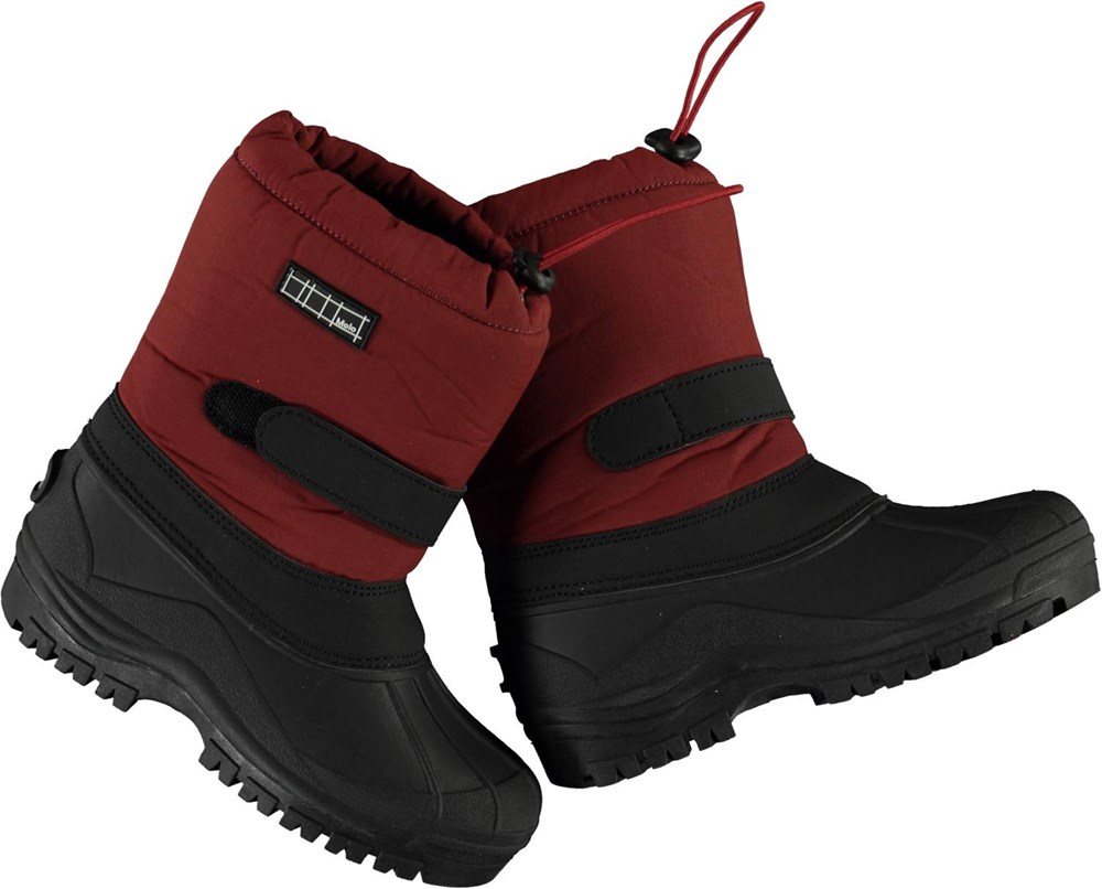 Driven - Rosewood - Recycled winter boots in dark red