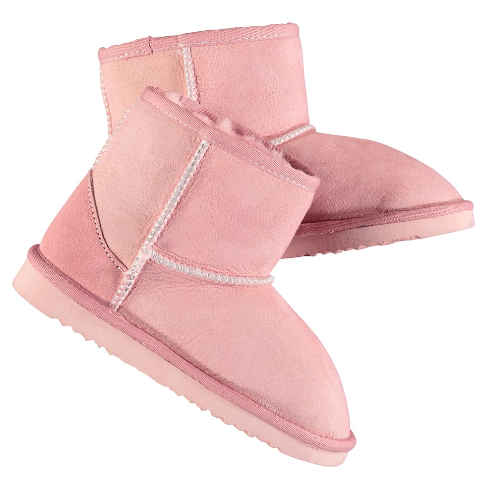 Dry - Ash Rose - Soft boots in pink lambskin