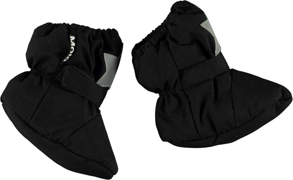 Imba - Black - Recycled black baby booties