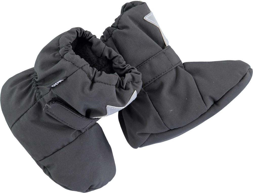 de72250e93cc9 Imba - Pirate Black - Black baby booties - Molo