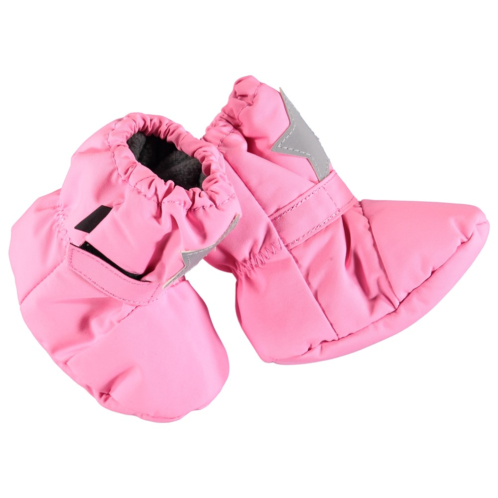 Imba - Total Pink - Wind and waterproof baby booties in pink