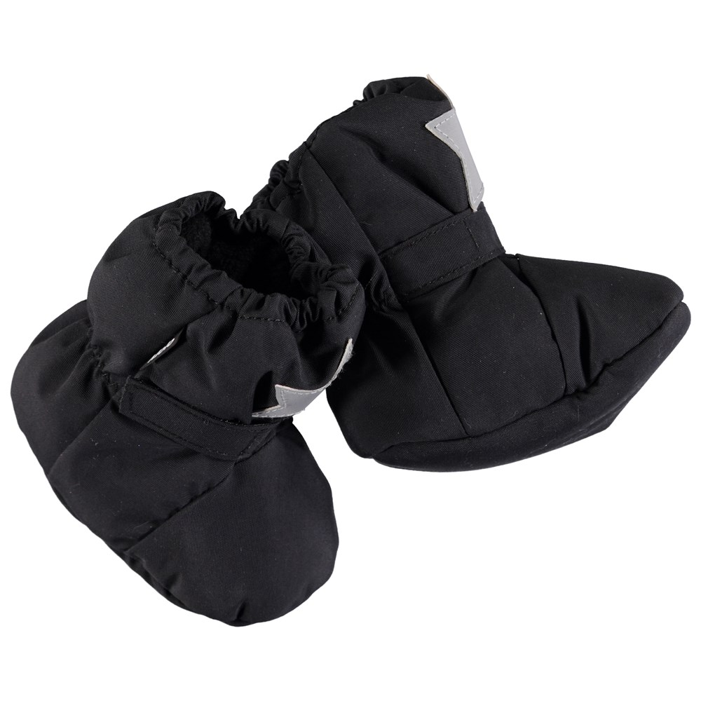 Imba - Very Black - Wind and waterproof baby booties in black