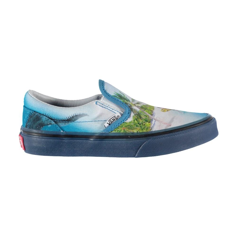Vans x Molo 4 - Kids Slip-On Blue - Vans X Molo Trainers - Kids Slipon Blue