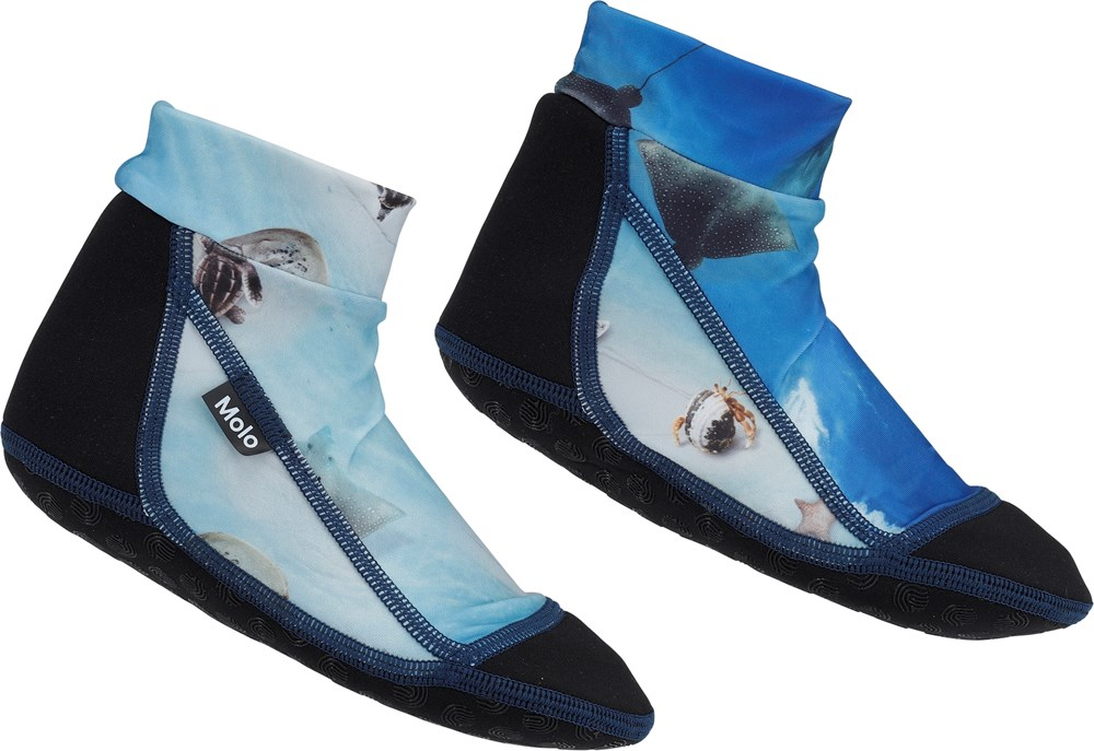 Zabi - Above Ocean - Blue neoprene swim socks