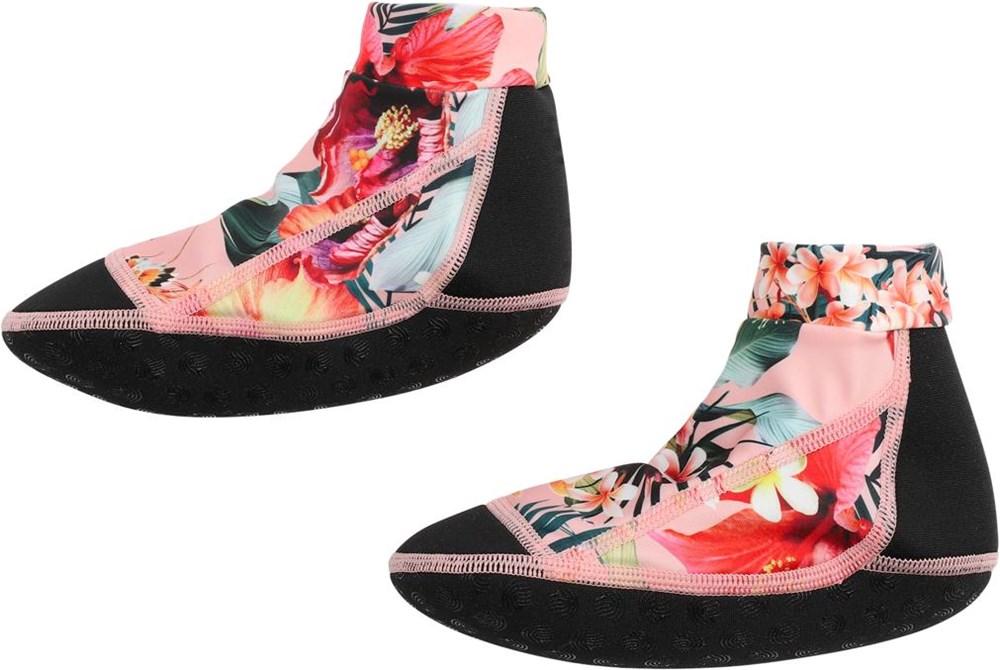 Zabi - Hawaiian Flowers - Floral neoprene aqua socks