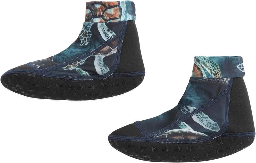 Zabi - Sea Turtles - Neoprene aqua socks with turtles