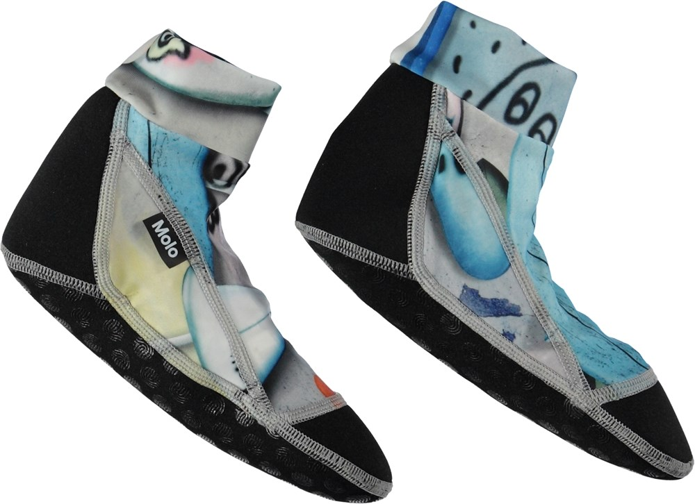 Zabi - Summer Walls - Swim socks with surfboards.