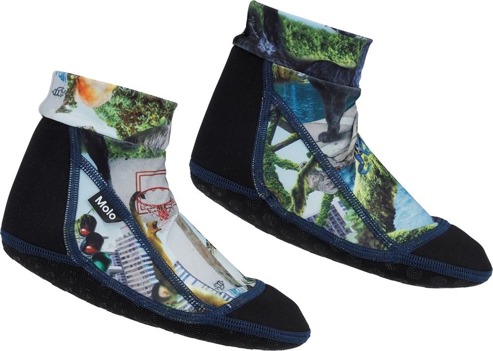 Zabi - Urban Jungle - Neoprene swim socks with jungle print
