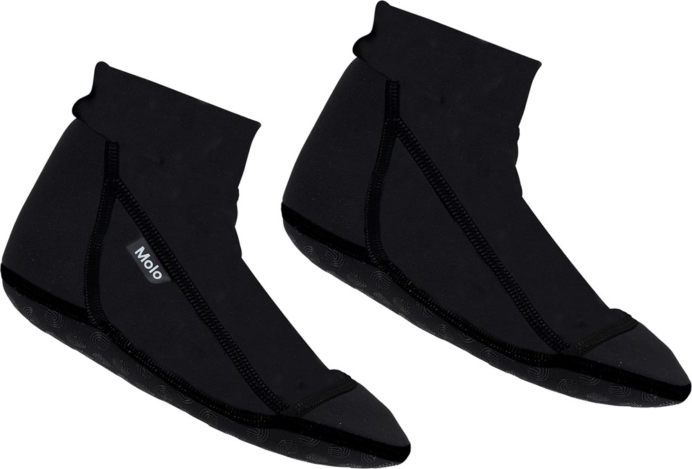 Zabi - Very Black - Black neoprene swim socks