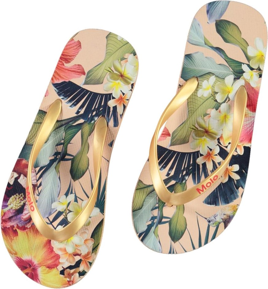 Zeppo - Hawaiian Flowers - Flip flops with floral print