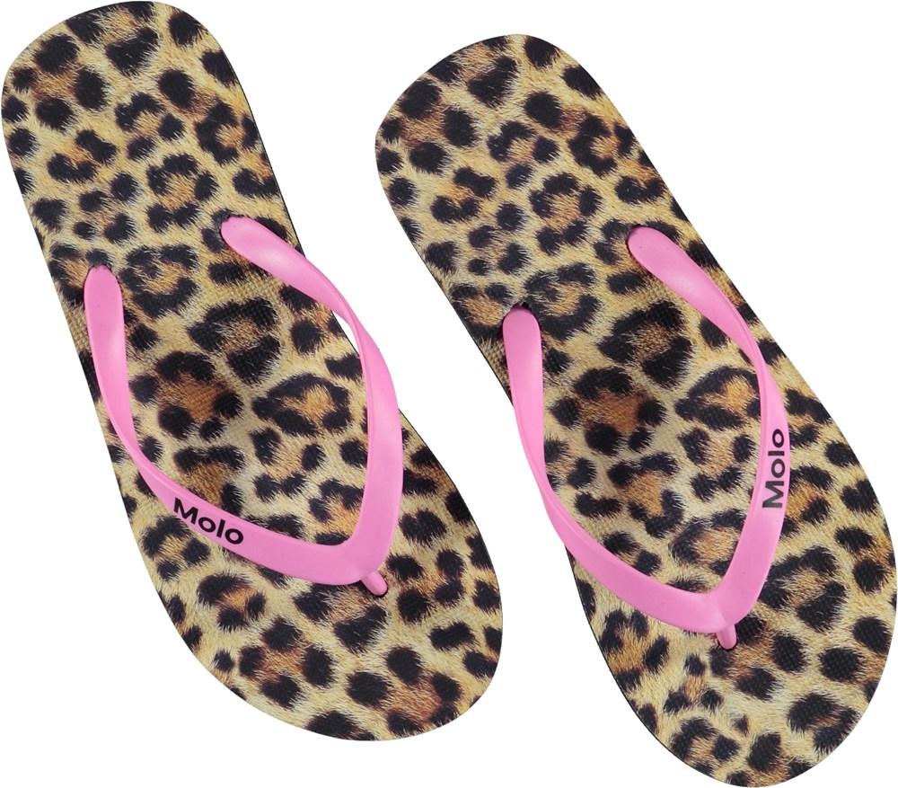 Zeppo - Jaguar - Leopard flip flops
