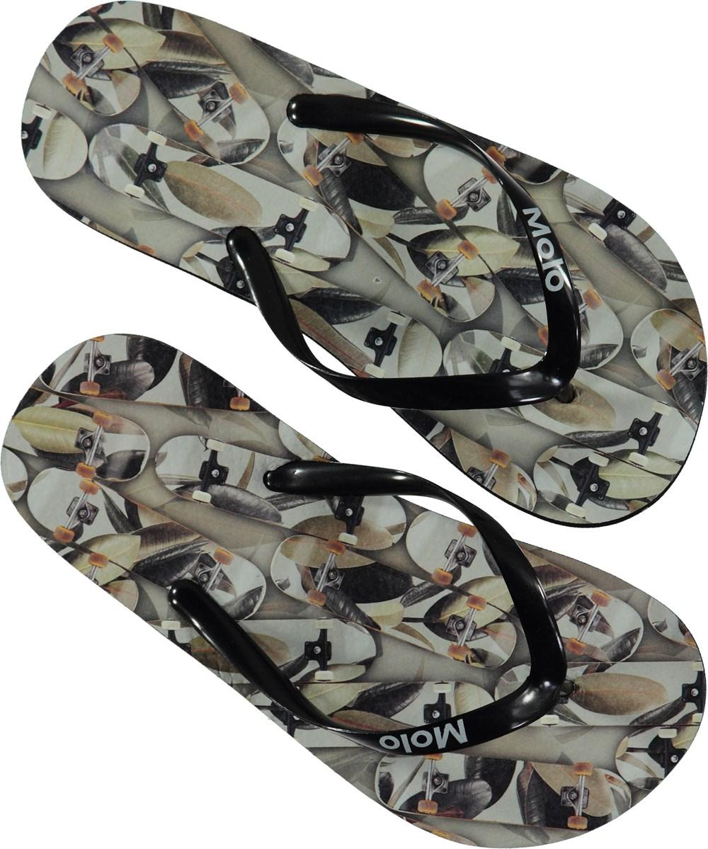 Zeppo - Skateboard Camouflage - Beach sandals with digital skateboard print