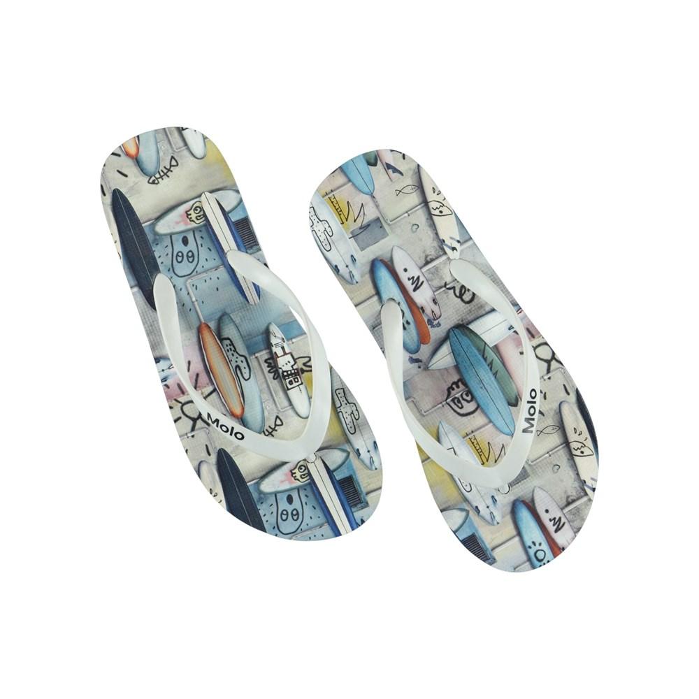 Zeppo - Summer Walls - Printed flip flops.