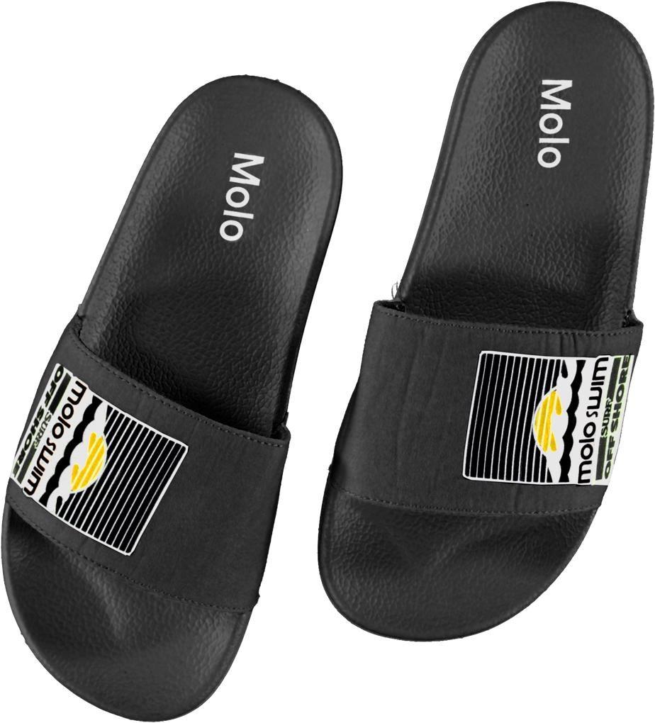 Zhappy - Black - Black beach sandals