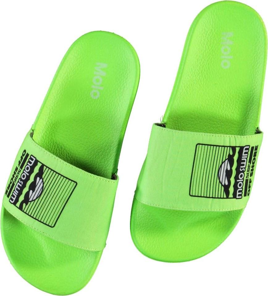 Zhappy - Scuba Green - Neon green beach sandals
